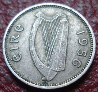 1956 Ireland 3 Pence In Ef photo