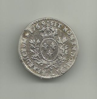 France 6 Sols 1769 Bayonne Silver C 43.  13 Avf photo