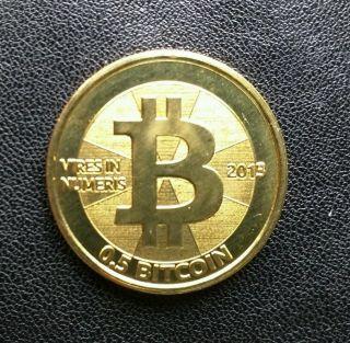 2013 Casascius Coin Brass Half Btc Loaded photo