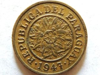 1947 Paraguay Five (5) Centimos Coin photo