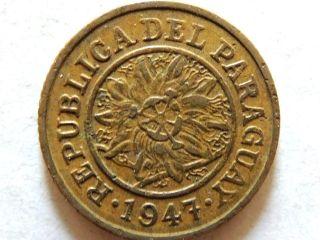 1947 Paraguay Five (5) Centimos Coin photo