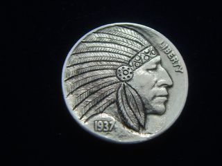 1937 - P Hobo Nickel - Indian Chief photo