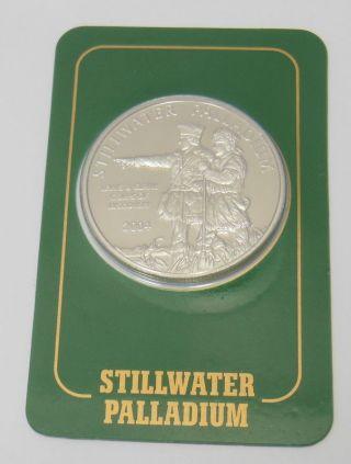 2004 1 Ozt Stillwater Palladium Johnson Matthey 9995 Fine Coin photo