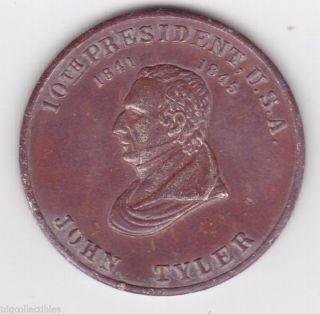 U.  S.  President John Tyler Political Token photo