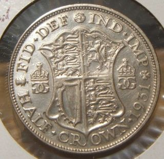 1931 Great Britain Half Crown Au Silver photo