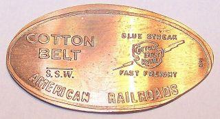 Amr - 6: Vintage Elongated Cent - American Railroads / Cotton Belt Route photo