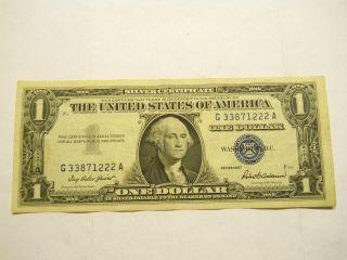 1957 $1.  00 U.  S.  Silver Certificate photo