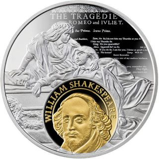 Cameroon 2016 500 Francs Cervantes And Shakespeare Proof Silver Coin photo