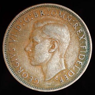 1951 Great Britian Half Penny photo