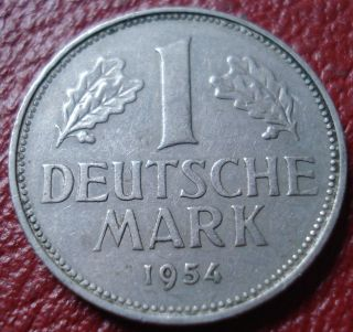 1954 - F Germany 1 Mark In Vf photo