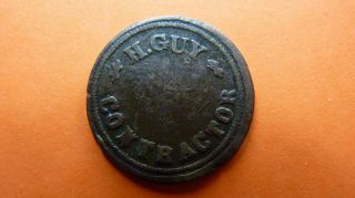 South - Africa/afrique/afrika Token/jeton/ficha - H.  Guy Contractor Very Rare photo