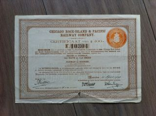 Chicago Rock - Island & Pacific Railway Company (certificaat 1928 Amsterdam) photo
