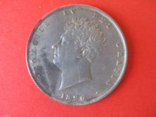 1826 George Iv Half - Crown 3rd Reverse Type - 2nd Head photo
