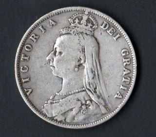 Coin Great Britton 1887 Silver Half Crown photo