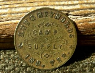 Ca 1878 Camp Supply Indian Territory It Oklahoma Post Sutler Lee & Reynolds Tokn photo