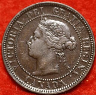 Uncirculated 1884 Canada One Cent Foreign Coin S/h photo