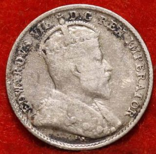 Uncirculated 1903 - H Canada 5 Cents Silver Foreign Coin S/h photo