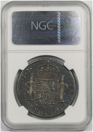 1814mo Jj Mexico Silver 8 Reales 8r Au 50 Ngc (pillar Dollar) photo