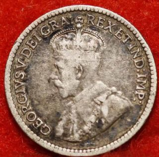 Uncirculated 1913 Canada 5 Cents Silver Foreign Coin S/h photo