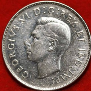Uncirculated 1947 Canada 50 Cents Silver Foreign Coin S/h photo