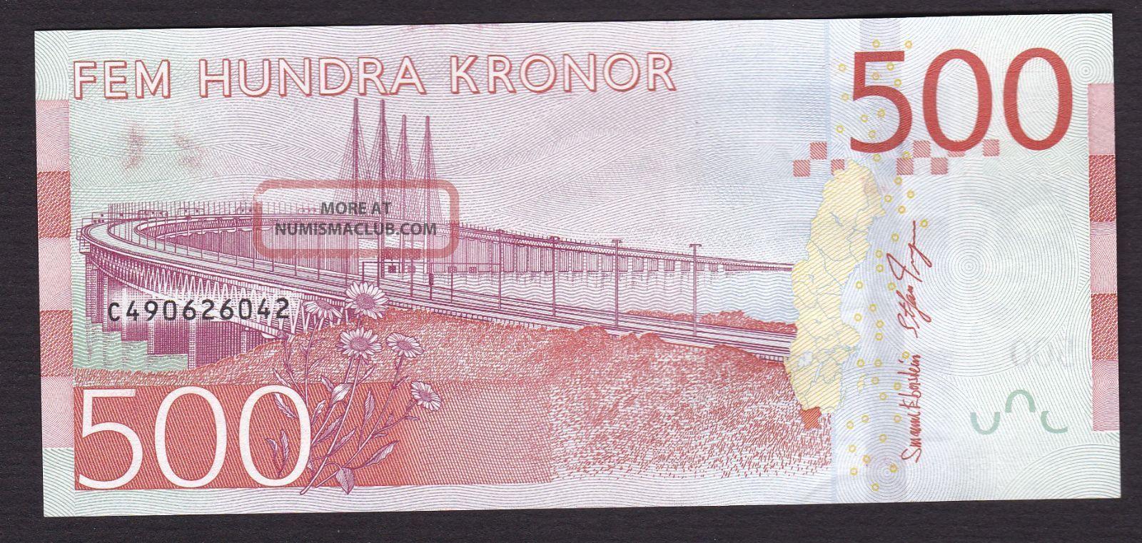 Sweden,  2016,  500 Kronor Note,  ' Birgit Nilsson ',  Unc,  Release October 3 Europe photo