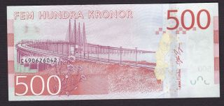 Sweden,  2016,  500 Kronor Note,  ' Birgit Nilsson ',  Unc,  Release October 3 photo