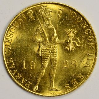 1928 Netherlands Gold Ducat photo