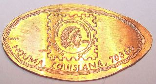 Ada - 40: Vintage Elongated Cent: Houma,  Louisiana,  70360 photo