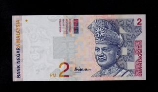 Malaysia 2 Ringgit (1996 - 99) Du Pick 40c Unc Banknote. photo