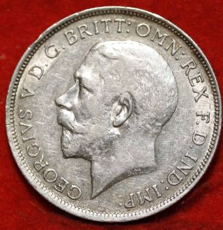 1919 Great Britain Florin Silver Foreign Coin S/h photo