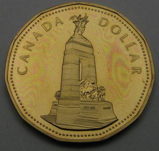 Canada 1 Dollar 1994 Proof - Aureate - War Memorial - Elizabeth Ii.  1912 photo