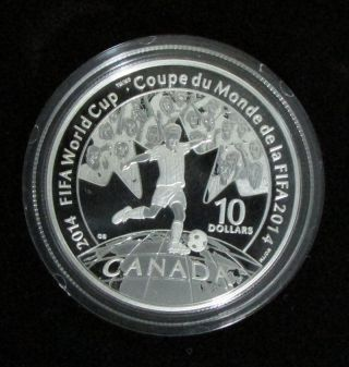 2014 $10 Fine Silver Coin - Fifa World Cup - By Rcm photo