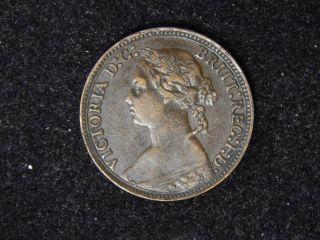 1879 Great Britain Farthing - Young Victoria photo
