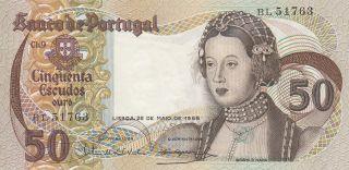 Portugal 50 Escudos 28.  5.  1968 Banknote Unc (pick 174a) photo