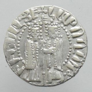 Cilician Armenia Hetoum I Ar Tram Armenian Silver Coin photo