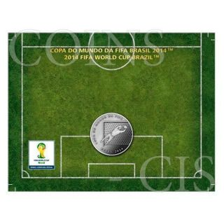 Brazil 2014 2 Reais Defence - 2014 Fifa World Cup Brazil Cuni Coin photo