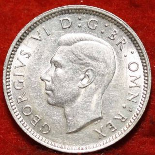 Uncirculated 1942 Great Britain 6 Pence Silver Foreign Coin S/h photo