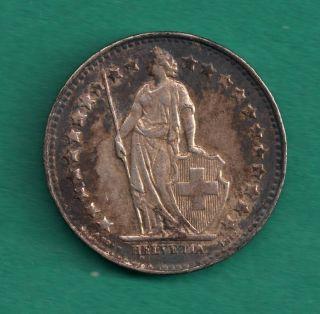 Switzerland 1/2 Franc 1950 - B.  8350 Silver /.  0671 Oz.  Asw Helvetia Coin photo