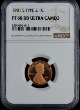 Ngc 1981 S Type 2 1c Lincoln Memorial One Cent Pf 68 Rd Proof Ultra Cameo Coin photo