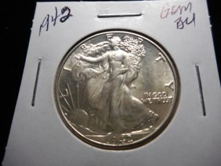 1942 Liberty Walker Half Dollar ' Beautiful/bright,  Flashy - Uncirculated photo