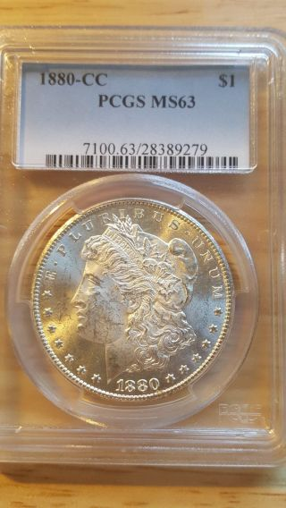 1880 - Cc Morgan Dollar - Ms - 63 Pcgs photo