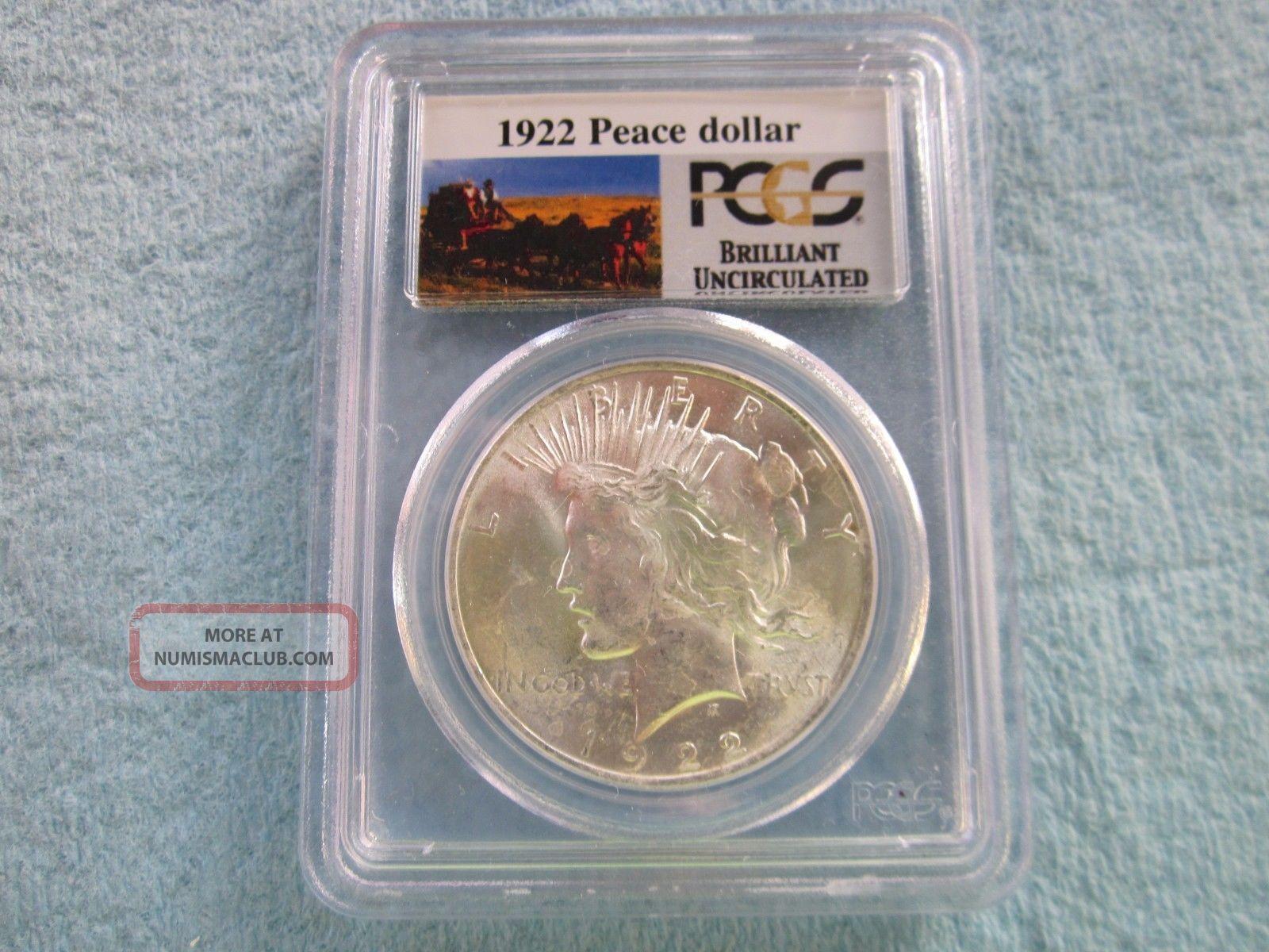 1922 Peace Dollar Dollars photo