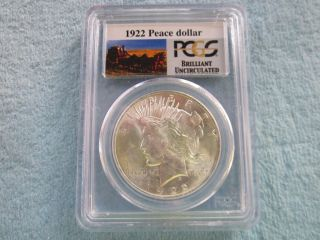 1922 Peace Dollar photo