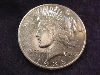 1935 - S Peace Dollar Dollar - - - 7022 photo
