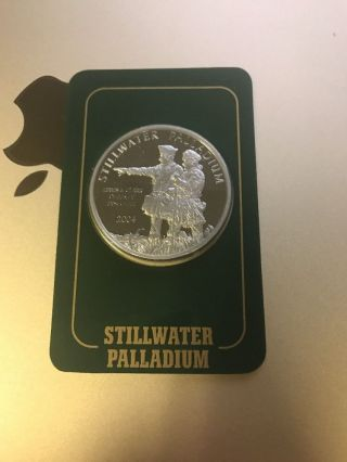 2005 - 1oz Johnson Matthey Stillwater Palladium - Lewis & Clark photo