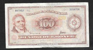 Denmark 100 Kroner 1936 photo