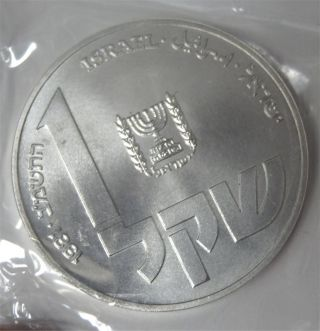 1981 Israel Hanukka From Poland Beautifully Uncirculated Silver Coin Low Mintage photo