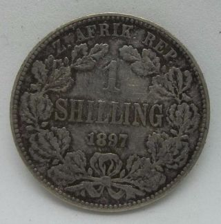 South Africa 1 Shilling 1897 Boer Republics Km 5 photo