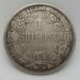 South Africa 1 Shilling 1894 Boer Republics Km 5 photo