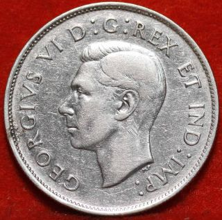 1939 Canada Silver 50 Cents Foreign Coin S/h photo